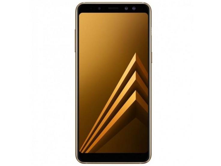 Telefon mobil Samsung Galaxy A8 (2018), Dual SIM, 32GB, LTE, Gold