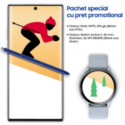 Pachet Samsung Galaxy Holiday cu Note 10 si Watch Active 2, tip R830NS