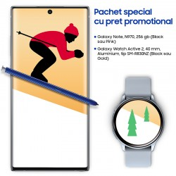 Pachet Samsung Galaxy Holiday cu Note 10 si Watch Active 2, tip R830NZ