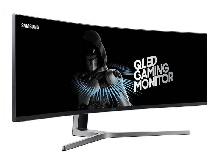 """Monitor QLED Gaming SAMSUNG LC49HG90DMUXEN, 49"""" Curved, HDR,  Super Ultra-wide screen, FreeSync"""