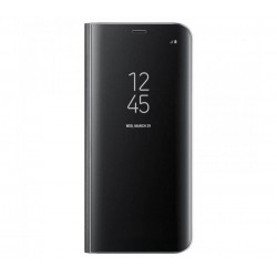 Husa Clear View Standing Cover Samsung Galaxy S8, Black