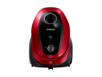 Aspirator cu sac Samsung VC07M25E0WB, 2.5 l, 750 W, Tub telescopic, Accesorii 2 in 1, Rosu