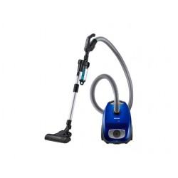 Aspirator cu sac Samsung VC07RVNJGRL, 3l, 750 W, Control pe maner, EZClean Cyclone, Albastru