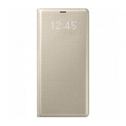 Husa LED View Cover pentru Samsung Galaxy Note 8, Gold