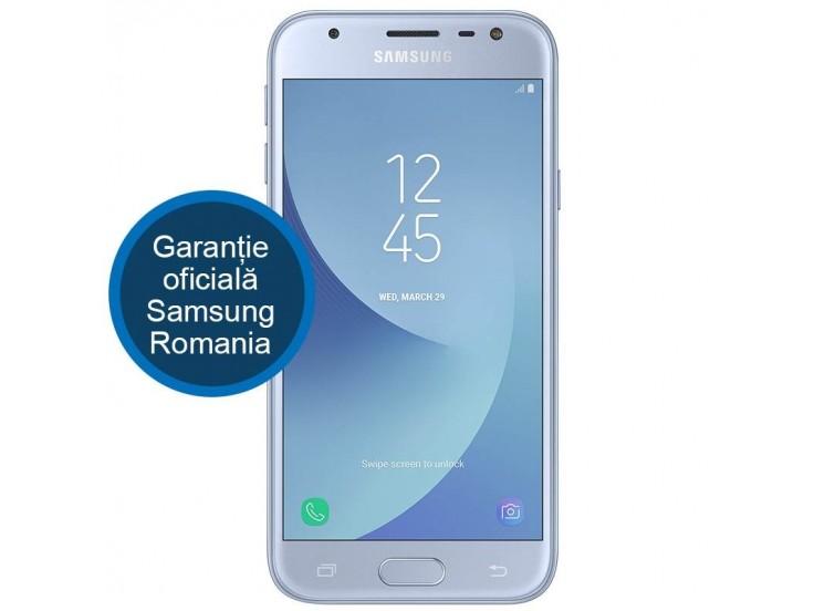 Telefon mobil SAMSUNG Galaxy J3 (2017), Dual SIM, 16GB, 4G, Blue Silver