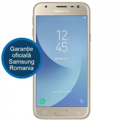 Telefon mobil SAMSUNG Galaxy J3 (2017), Dual SIM, 16GB, 4G, Gold