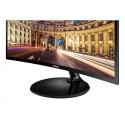 "Monitor LED Samsung 24"" Curved, LC24F390FH, Full HD, D-Sub, HDMI, Negru"