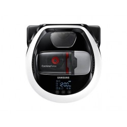 Robot de aspirare Samsung VR10M702HUW, 20W, 0.3L, FullView Sensor 2.0, Edge Clean Master, Cyclone Force, Timer, mod Turbo