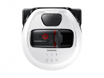 Robot de aspirare Samsung VR10M701HUW, 10W, 0.3L, FullView Sensor 2.0, Edge Clean Master, Wi-fi, Cyclone Force, Timer, mod Turbo