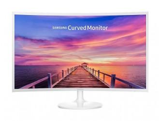 Monitor LED VA Samsung LC32F391FW, Curved, Wide, FHD, HDMI, DisplayPort, Flicker-Free, 32'', Alb