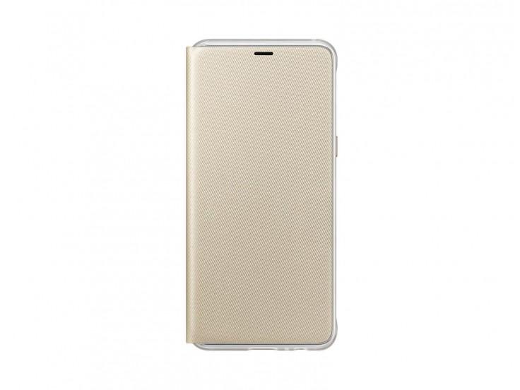 Husa Flip Cover Neon Samsung Galaxy A8 (2018), Gold