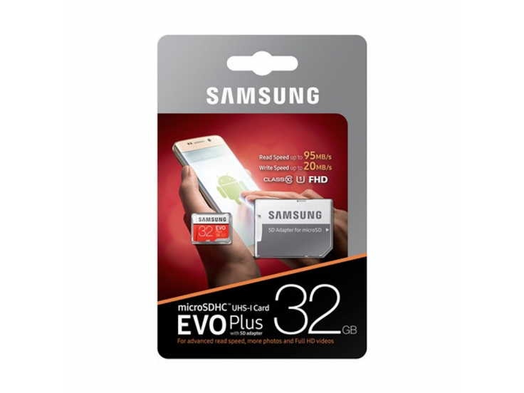 Card de memeorie Samsung Micro-SDHC EVO Plus 32GB, Clasa 10 , UHS-1 2017, 32GB MB-MC32GA/EU