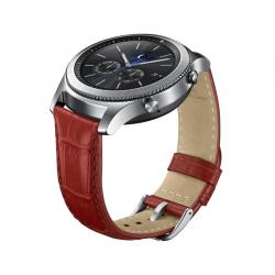 Curea Samsung Gear S3, Standard Size, Alligator Grain Red