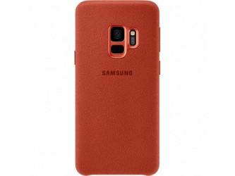Husa Alcantara Cover pentru Samsung Galaxy S9, Red