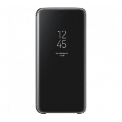 Husa Clear View Standing Cover Samsung Galaxy S9, Black