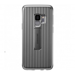 Husa Protective Standing Cover Samsung Galaxy S9 Plus, Silver