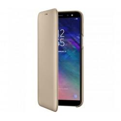 Husa Flip Wallet Samsung Galaxy A6 (2018), Gold