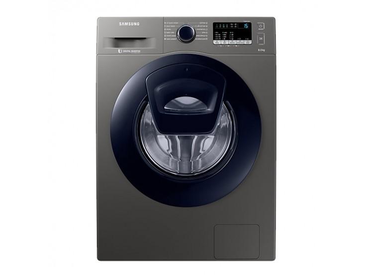 Masina de spalat rufe Samsung Add Wash WW80K44305X, Display LED, Smart Check, 8 kg, 1400 RPM, Clasa A+++, 60 cm, Inox