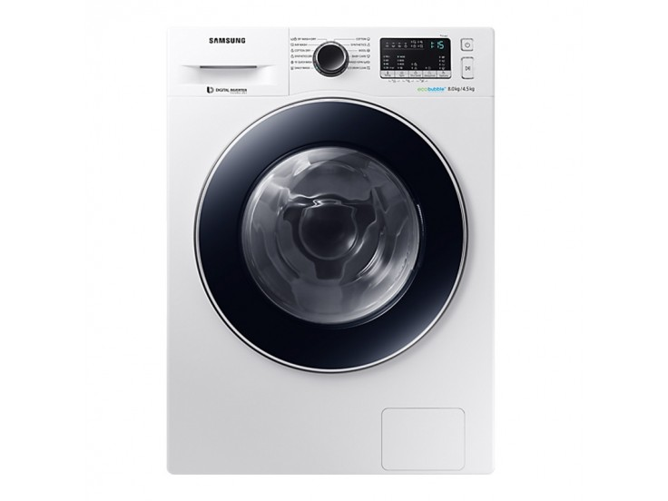 Masina de spalat rufe cu uscator Samsung WD80M4A43JW, 1400 RPM, 8 kg spalare, 4.5 kg uscare, Eco Bubble,  Alb