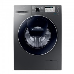 Masina de spalat rufe Samsung Add Wash WW90K5410UX, Digital Inverter, Eco Bubble, Smart Check, 9 kg, 1400 RPM, Clasa A+++, Inox