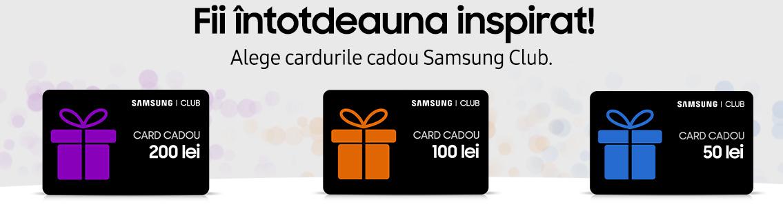 Carduri cadou Samsung Club